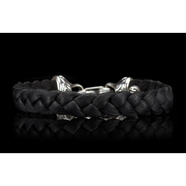 William Henry 'Hunter' Braided Black Deer Skin Bracelet Image 4 David Scott Fine Jewelry Panama City Beach, FL