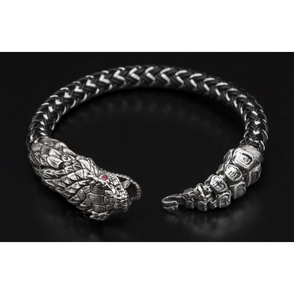 "William Henry ""Full Circle"" Rattlesnake Bracelet Image 2  ,"