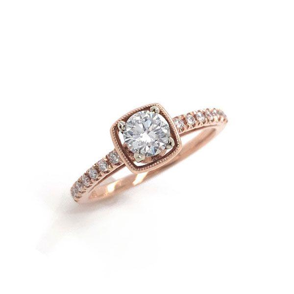 14k Rose Gold Diamond Engagement Ring 001 100 00244 Dunkirk Dickinson Jewelers Dunkirk Md