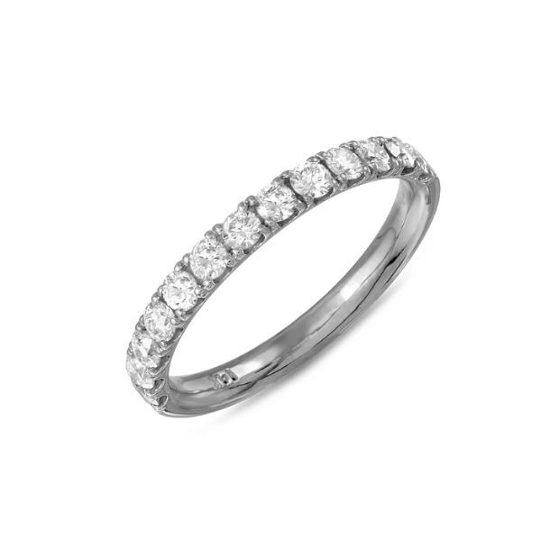 14k White Gold Diamond Wedding Band Dickinson Jewelers Dunkirk, MD