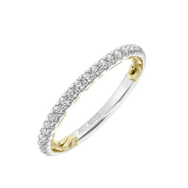14k Yellow-White Gold Diamond Band Dickinson Jewelers Dunkirk, MD