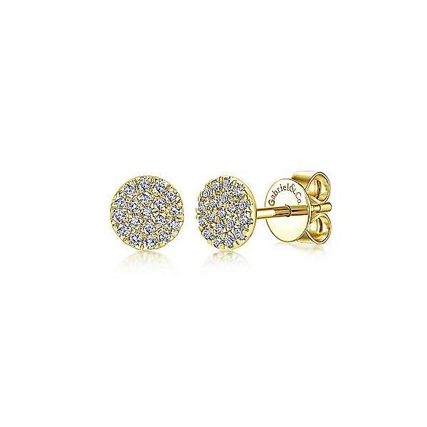 14k Yellow Gold Diamond Earrings Dickinson Jewelers Dunkirk, MD