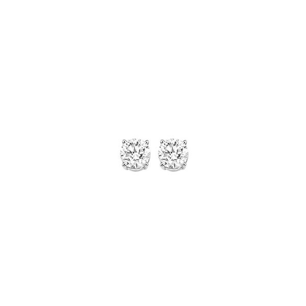Value Priced 14k White Gold Diamond Stud Earrings Dickinson Jewelers Dunkirk, MD