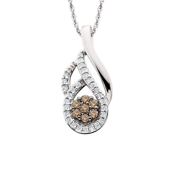 10k White Gold Diamond Pendant Dickinson Jewelers Dunkirk, MD