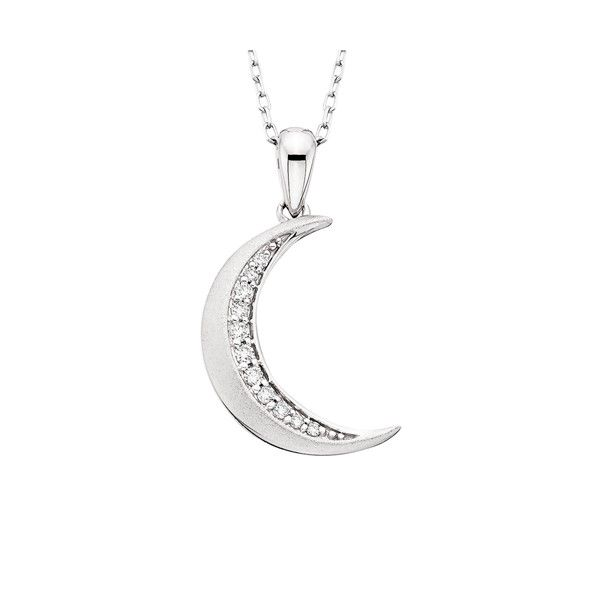 10k White Gold Crescent Moon Pendant Dickinson Jewelers Dunkirk, MD