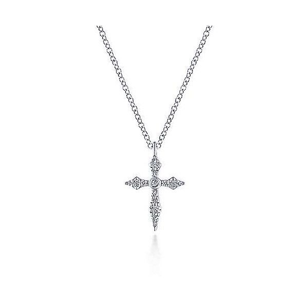 14k White Gold Diamond Cross Pendant Dickinson Jewelers Dunkirk, MD