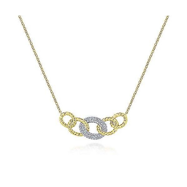 14k Yellow-White Gold Diamond Necklace Dickinson Jewelers Dunkirk, MD