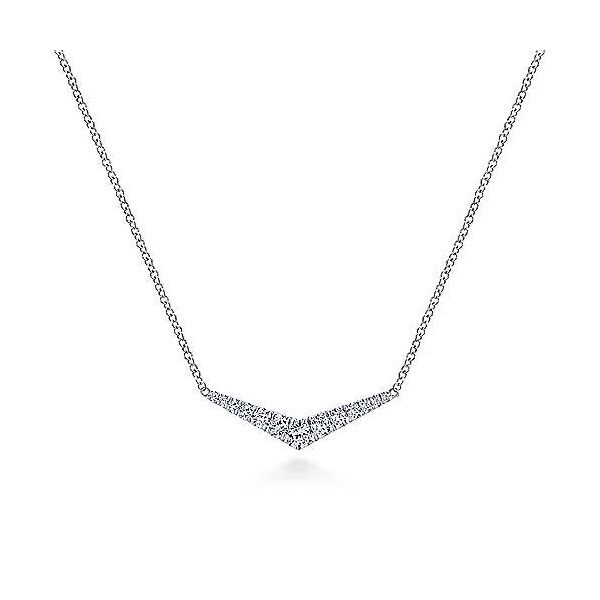 14k White Gold Diamond Necklace Dickinson Jewelers Dunkirk, MD