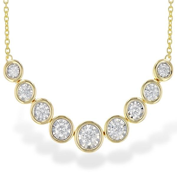 14k Yellow Gold Diamond Necklace Dickinson Jewelers Dunkirk, MD