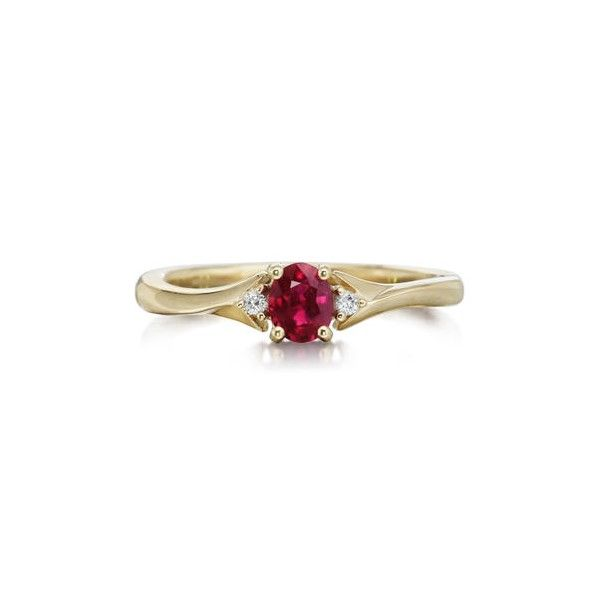 14k Yellow Gold Ruby Ring Dickinson Jewelers Dunkirk, MD
