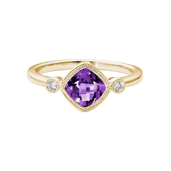 14k Yellow Gold Amethyst Ring Dickinson Jewelers Dunkirk, MD