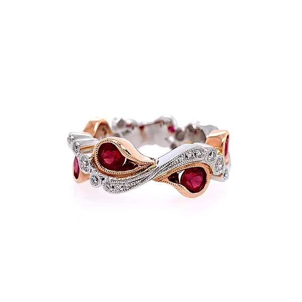 14k White-Rose Gold Ruby Ring Dickinson Jewelers Dunkirk, MD