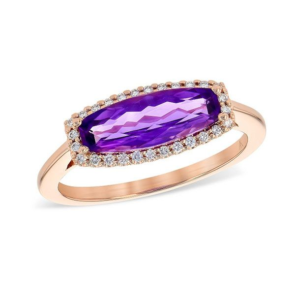 14k Rose Gold Amethyst Ring Dickinson Jewelers Dunkirk, MD