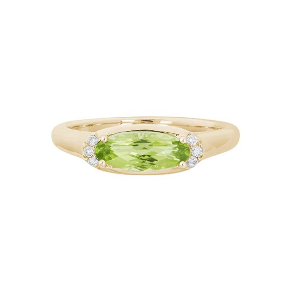 14k Yellow Gold Peridot Ring Dickinson Jewelers Dunkirk, MD