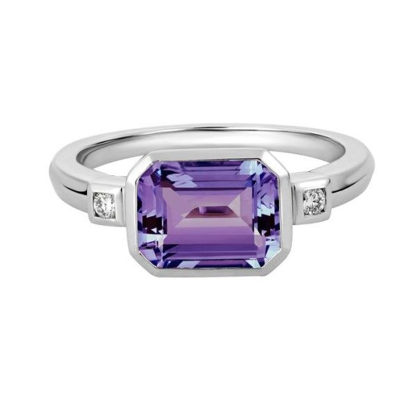 14k White Gold Amethyst Ring Dickinson Jewelers Dunkirk, MD