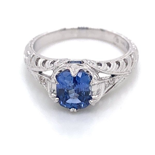 18k White Gold Sapphire Ring Dickinson Jewelers Dunkirk, MD