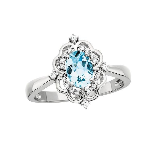 14k Aquamarine Ring Dickinson Jewelers Dunkirk, MD