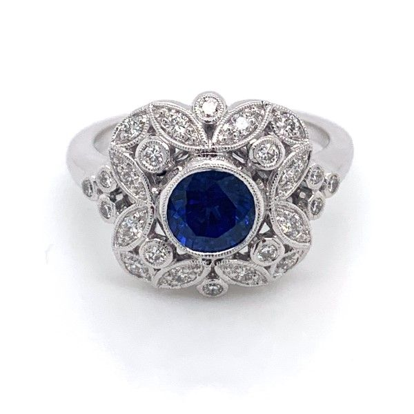 14k White Gold Sapphire Ring Dickinson Jewelers Dunkirk, MD