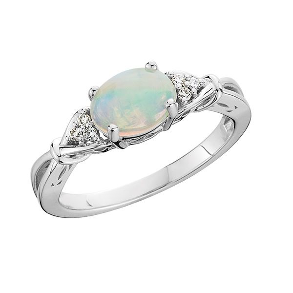 10k White Gold Opal Ring Dickinson Jewelers Dunkirk, MD