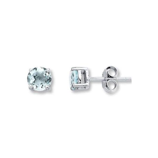 14k White Gold Aquamarine Stud Earrings Dickinson Jewelers Dunkirk, MD