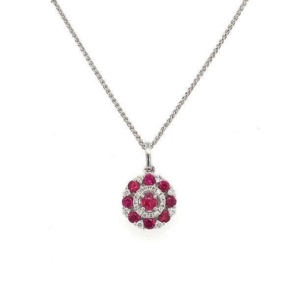 14k Gold Ruby And Diamond Pendant Dickinson Jewelers Dunkirk, MD