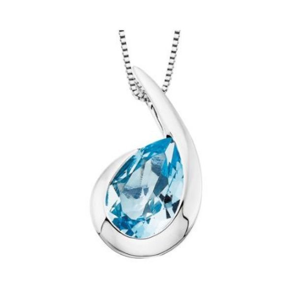 Sterling Silver Blue Topaz Pendant Dickinson Jewelers Dunkirk, MD