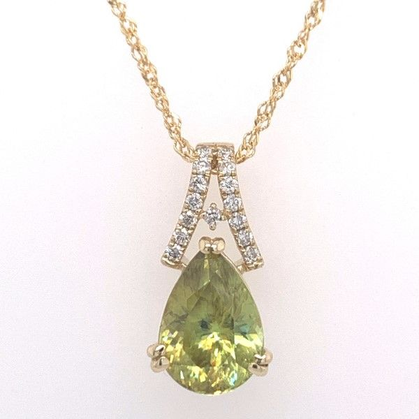 14k Yellow Gold Sphene And Diamond Pendant Dickinson Jewelers Dunkirk, MD