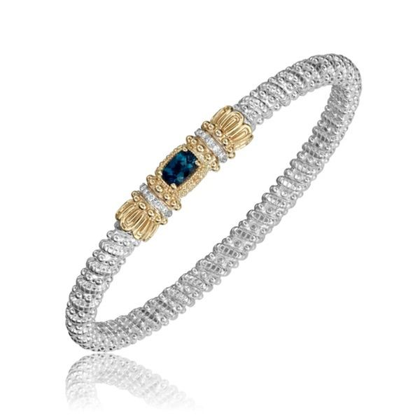 14k Yellow Gold And Sterling Silver London Blue Topaz Bracelet Dickinson Jewelers Dunkirk, MD
