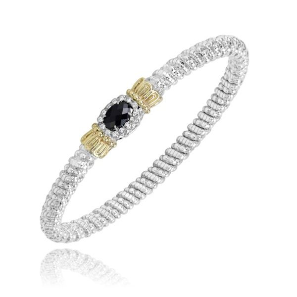 14k Yellow Gold And Sterling Silver Black Onyx Bracelet Dickinson Jewelers Dunkirk, MD
