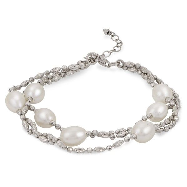 Sterling Silver Pearl Bracelet Dickinson Jewelers Dunkirk, MD