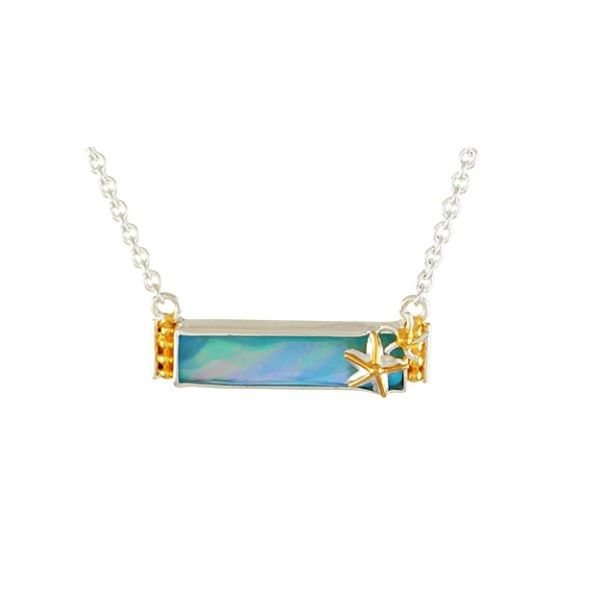 Sterling Silver Amazonite, Quartz And MOP Bar Necklace Dickinson Jewelers Dunkirk, MD