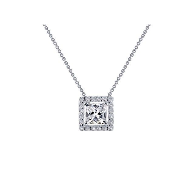 Lassaire Simulated Diamond Halo Necklace Dickinson Jewelers Dunkirk, MD