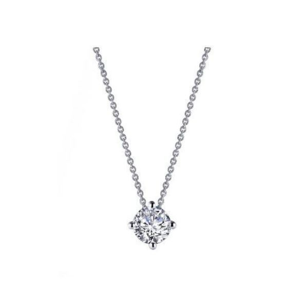 Lassaire Simulated Diamond Solitaire Necklace Dickinson Jewelers Dunkirk, MD