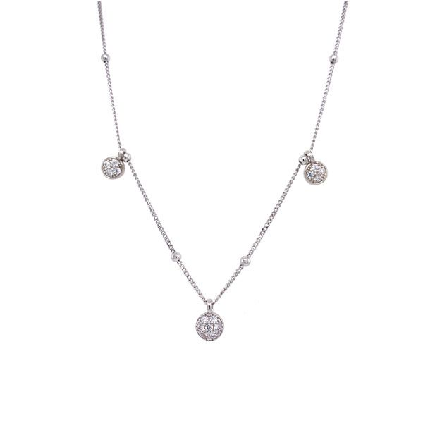 Sterling Silver And Vermeil White Sapphire Drop Necklace Dickinson Jewelers Dunkirk, MD