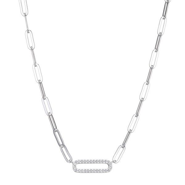 Paperclip Cubic Zirconia Necklace Dickinson Jewelers Dunkirk, MD