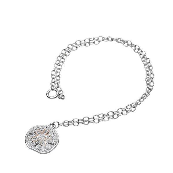 Sand Dollar Anklet With White Swarovski® Crystals Dickinson Jewelers Dunkirk, MD