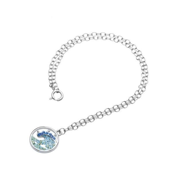 Swarovski® Crystals Blue Wave Anklet Dickinson Jewelers Dunkirk, MD