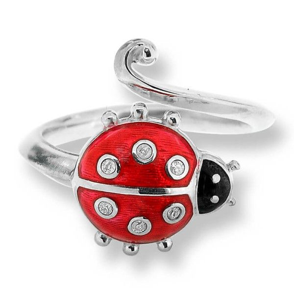 Sterling Silver And Enamel Ladybug Ring Dickinson Jewelers Dunkirk, MD
