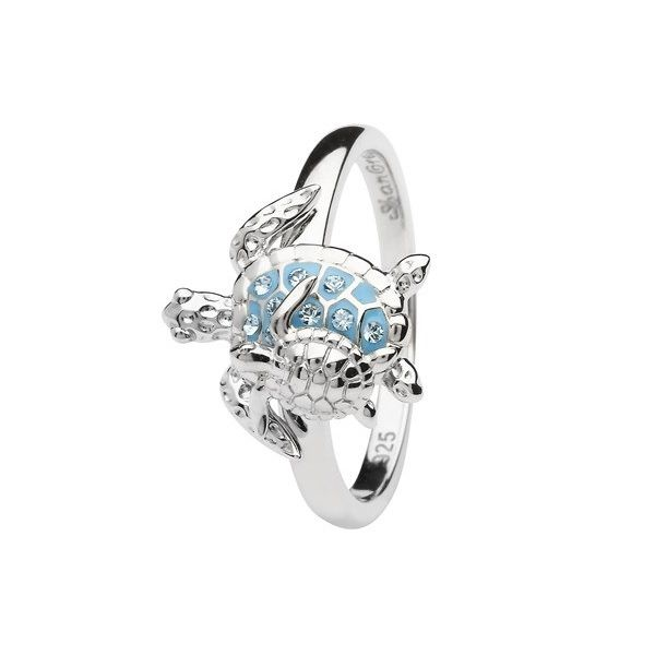 Sterling Silver And Swarovski® Crystal Turtle Ring - Sz 5 Dickinson Jewelers Dunkirk, MD
