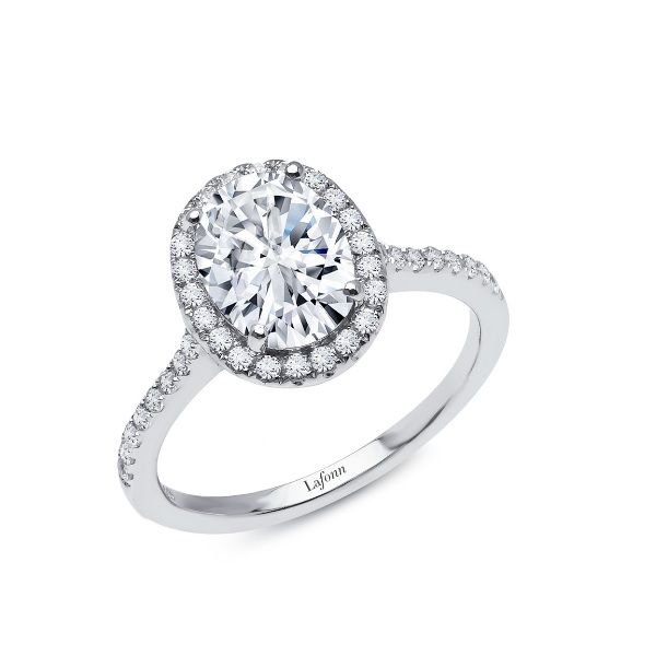 Lassaire Simulated Diamond Halo Ring - Sz 8 Dickinson Jewelers Dunkirk, MD