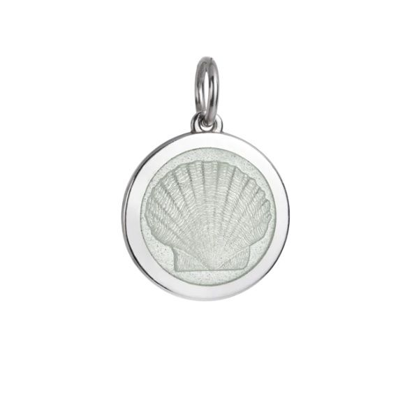 Medium White Enamel Scallop Shell Pendant Dickinson Jewelers Dunkirk, MD