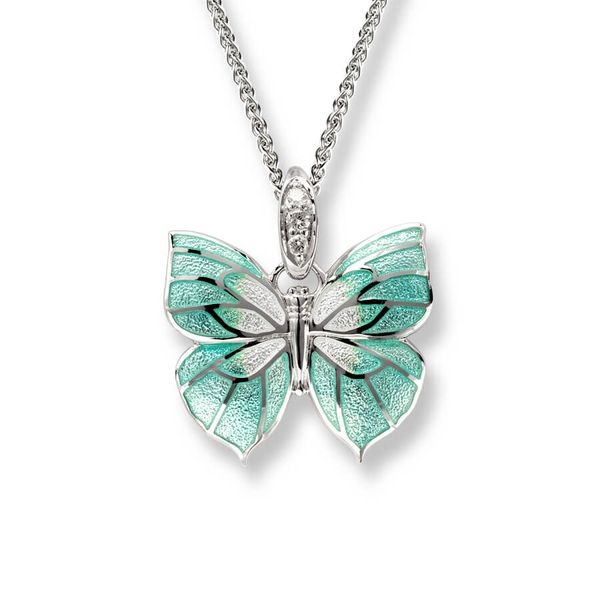 Sterling Silver And Enamel Butterfly Necklace Dickinson Jewelers Dunkirk, MD