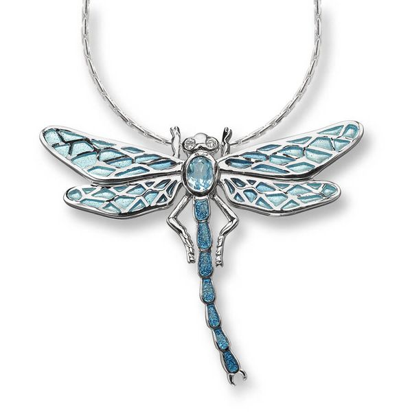Sterling Silver And Enamel Dragonfly Necklace Dickinson Jewelers Dunkirk, MD