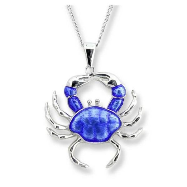 Sterling Silver And Enamel Crab Necklace Dickinson Jewelers Dunkirk, MD