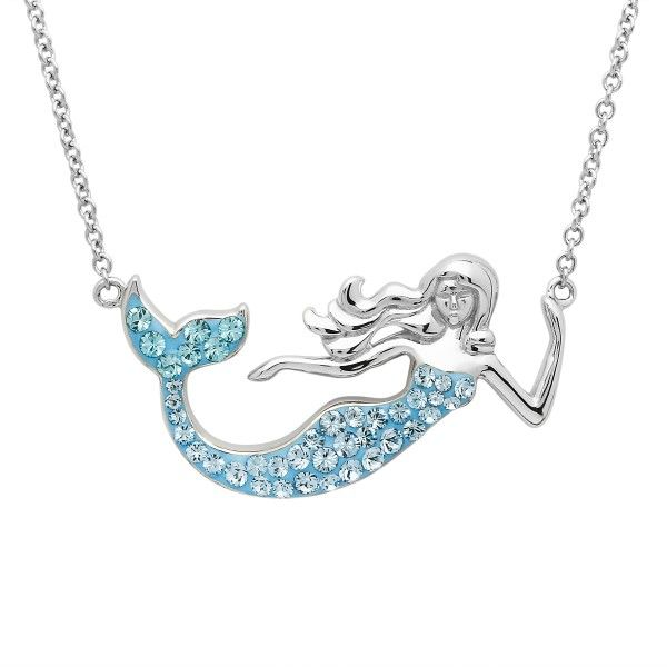 Sterling Silver And Swarovski® Crystal Mermaid Necklace Dickinson Jewelers Dunkirk, MD