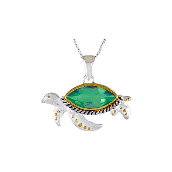 Sterling Silver And Quartz Sea Turtle Pendant Dickinson Jewelers Dunkirk, MD