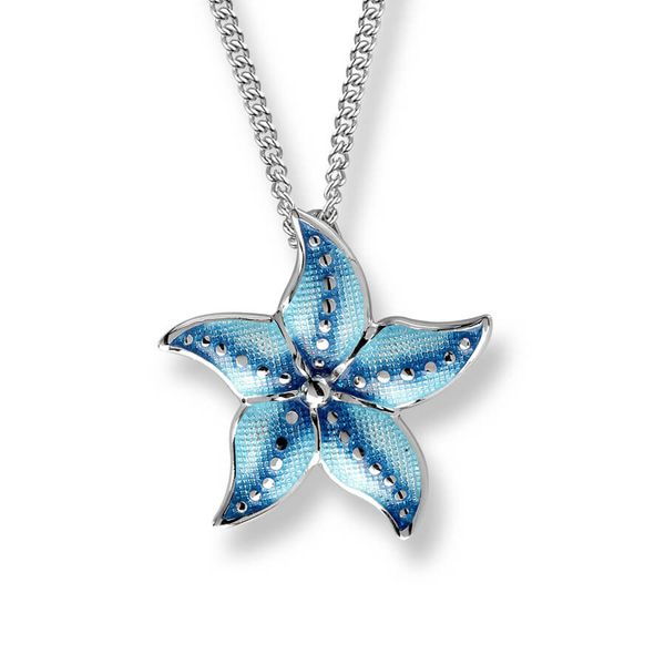Sterling Silver And Enamel Starfish Necklace Dickinson Jewelers Dunkirk, MD