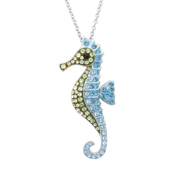 Sterling Silver And Swarovski® Crystal Seahorse Pendant Dickinson Jewelers Dunkirk, MD