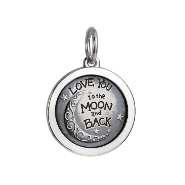 Oxidized Sterling Silver Love You To The Moon And Back Pendant Dickinson Jewelers Dunkirk, MD
