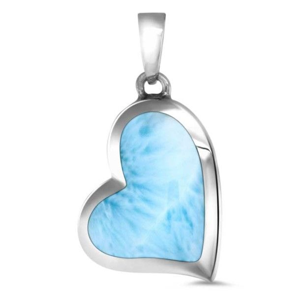 Floating Heart Larimar Pendant Dickinson Jewelers Dunkirk, MD